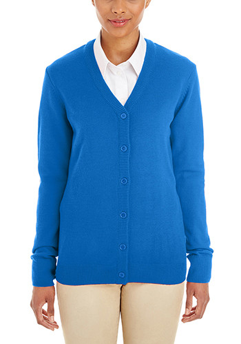 Harriton Ladies Pilbloc V-Neck Button Cardigan Sweaters | M425W