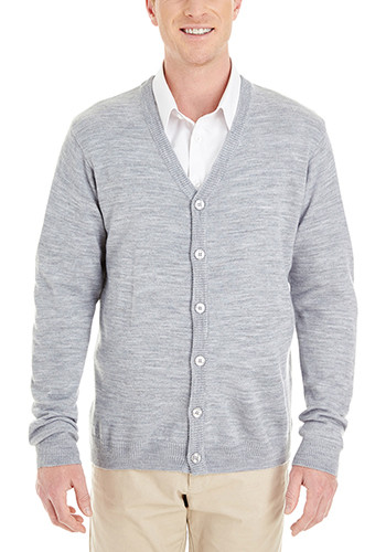 Harriton Mens Pilbloc V-Neck Button Cardigan Sweaters | M425