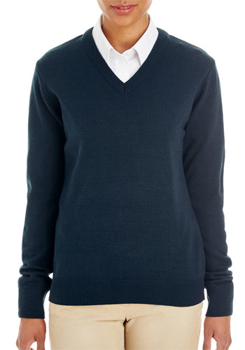 Harriton Ladies Pilbloc V-Neck Sweaters | M420W