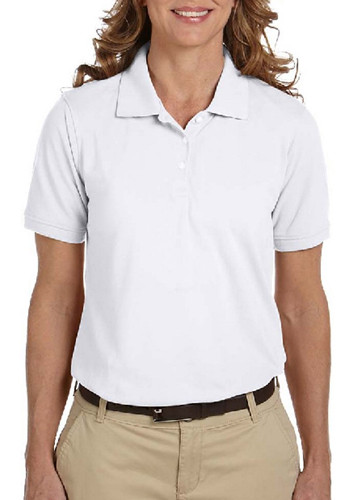 Harriton woman's 5.6oz 65/35 pique polo