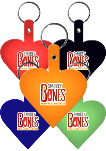 Personalized Heart Flexible Key Tags