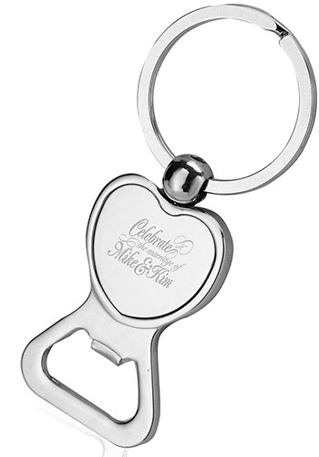 Heart Shaped Bottle Opener Keychains