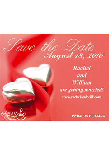 Promotional Hearts Save the Date Magnets