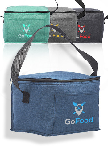 Customized Heathered 6 Pack Insulated Cooler Lunch Bags