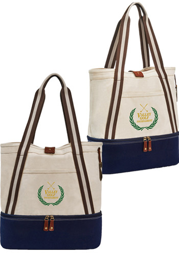 Custom Heritage Supply Freeport Cotton Insulated Totes