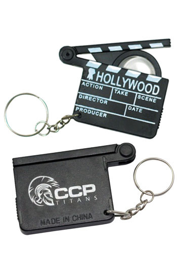 Customized Hollywood Magnifying Glass Keyring