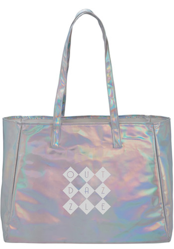 Holographic Shopper Totes  LE219010