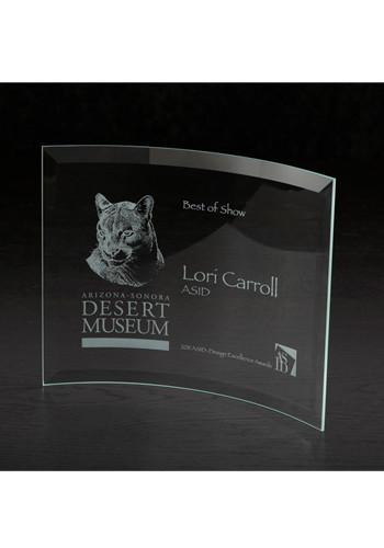 Icon Crescent Large Glass Awards | MBMIC6177