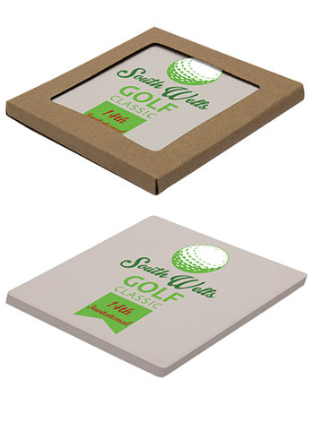 Custom Square Absorbent Stone Coasters