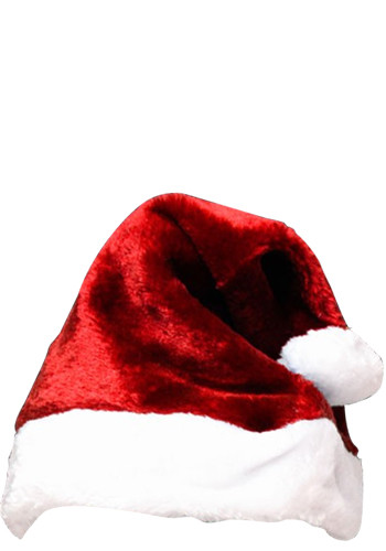 Adult Red Plush Santa Hats | WCHAT078