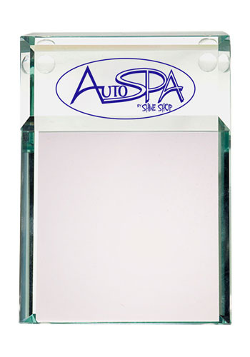 Atrium Clear Glass Message Pad Holders | PLLG9022