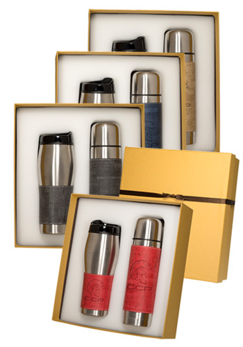 Casablanca™ Stainless Steel Thermos & Tumbler Gift Set |PLLG9370