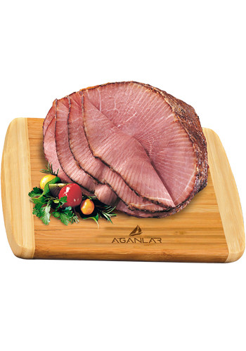 Eco-Friendly Bamboo Cutting Boards with Spiral-Sliced Half Ham | MRBB744