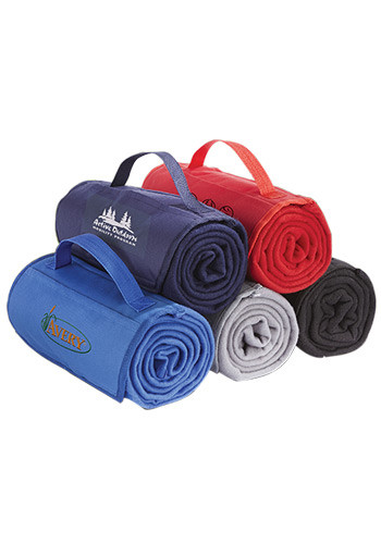 #MGBG4953 Imprinted Fleece Roll Up Blankets