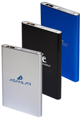 4000mAh Portable Aluminum Power Banks | PL1365