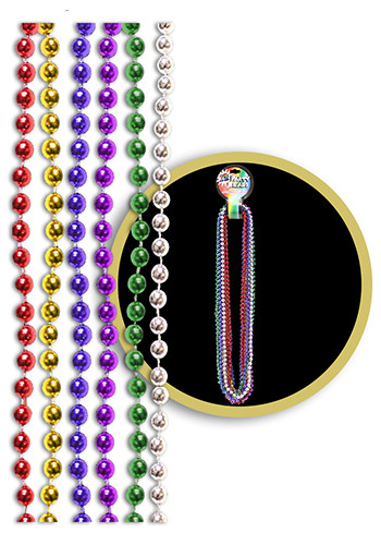 Customized Assorted Color Metallic Beaded Necklaces