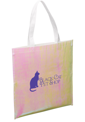 Iridescent Non-Woven Convention Totes | SM5795