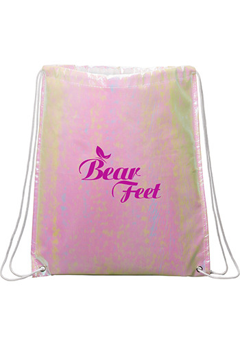 Promotional Iridescent Non-Woven Drawstring Bags