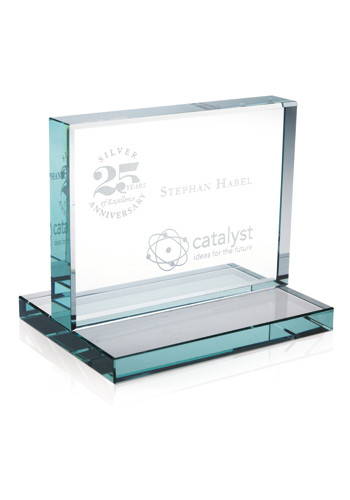 Jaffa Horizontal Jade Award with Jade Base | X10507