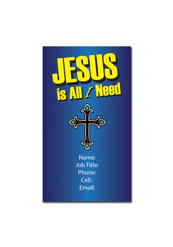 Jesus is All I Need Magnets