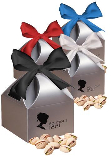 Jumbo California Pistachios in Silver Gift Box | MRSCT141