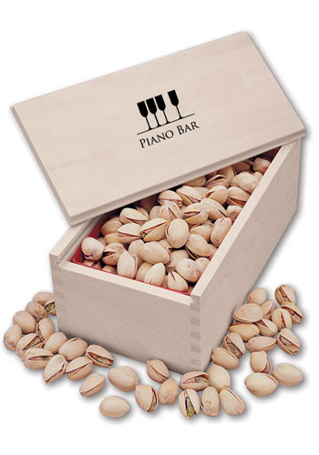 Custom Jumbo California Pistachios in  Wooden Collectors Box