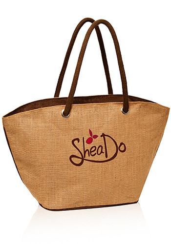 Personalized Jute Basket Tote Bags
