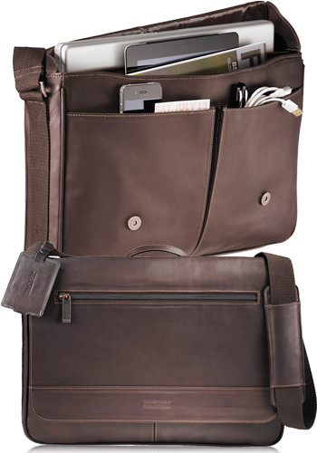 Bulk Kenneth Cole Colombian Leather Compu-Messenger Bags