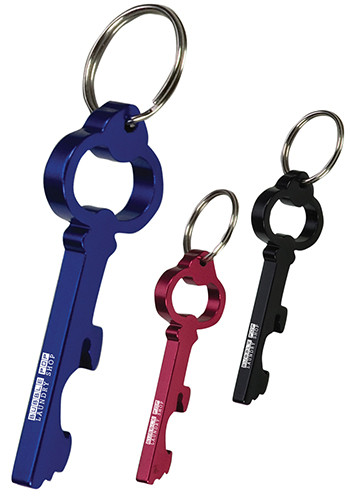 Customized Key Shape Bottle Opener Key Rings