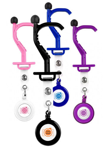 Kooty Key Anti-Germ Utility Tool with Badge Holder | HCA8001