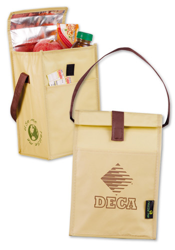 Laminated Non-Woven Brown Baggin' It Lunch Bags  | LE216055
