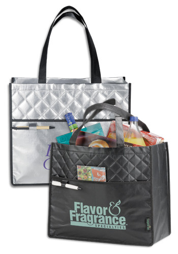 Laminated Non-Woven Quilted Carry-All Tote Bags | LE216008