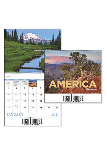 Landscapes of America English - Spiral Calendars | X30181