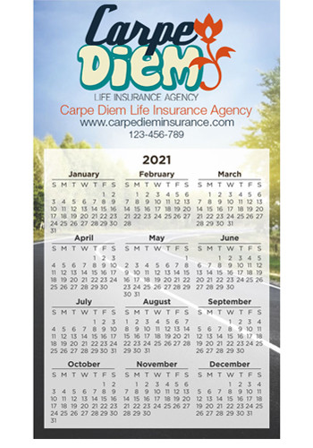 Personalized Large Calendar Magnets