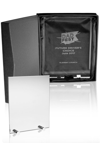 Wholesale Large Chroma Glass Awards with Double Stand