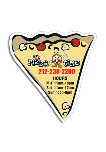 Bulk Large Pizza Slice 4in x 3.5in Magnets