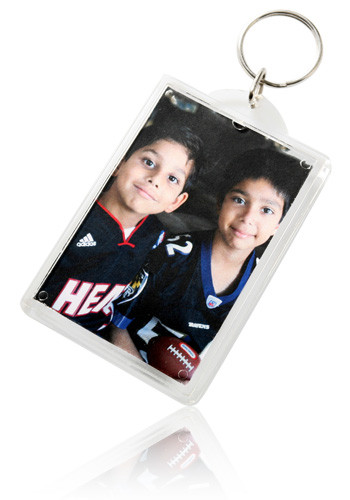 Large Rectangular Photo Keychains