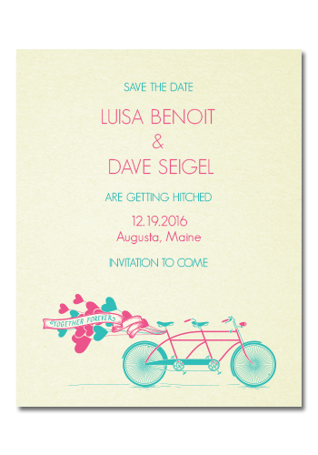 Save the Date - Bike Ride 3.75in x 3in Magnets