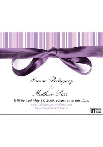 Lavender Stripe Save the Date Magnets | MGS2170EE