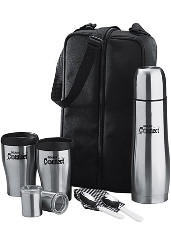 #LE150004 Cafe Custom 24oz Totes for Two