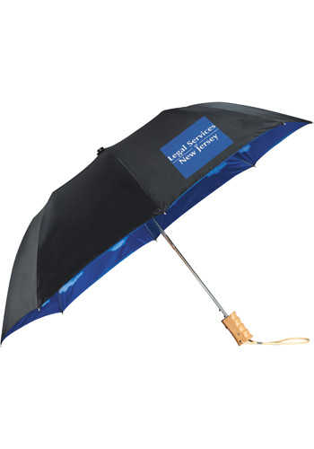 Promotional Blue Skies Auto Folding Umbrellas