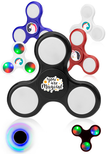 Personalized LED Fidgy Fidget Hand Spinners