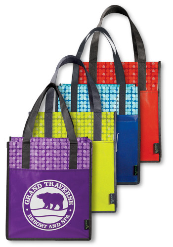 Laminated Non-Woven Big Grocery Tote Bags | LE216038