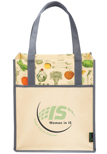 Laminated Non-Woven Vintage Grocery Tote Bags | LE216048