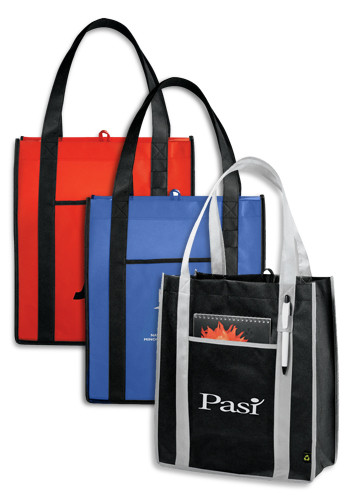 Personalized PolyPro Non-Woven Contrast Carry-All Tote Bags