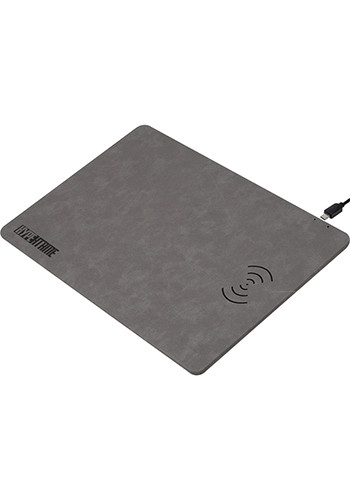 Promotional Leon - Wireless Charger Vegan Leather Mouse Pads