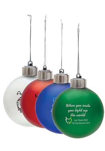 Custom Light-Up Shatter Resistant Ornaments