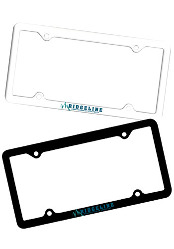 Customized Line Plastic License Plate Frames