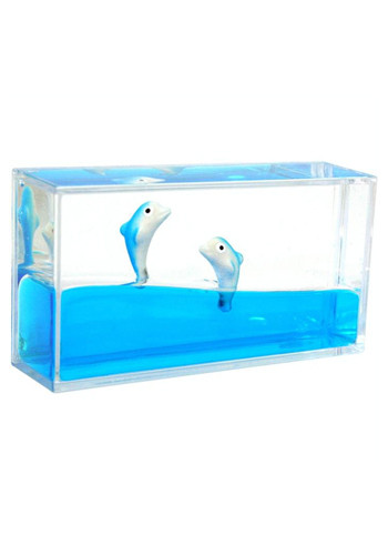 Promotional Dolphins Liquid Paperweights