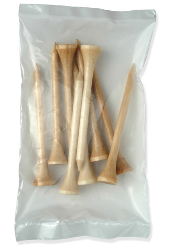 Natural Long Golf Tee Packs of 9 | CR9TEEPKL